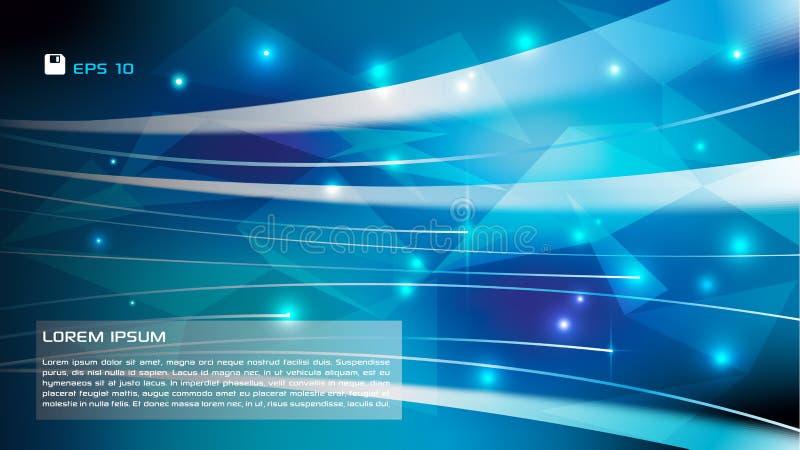 Vector abstracte kleurrijke achtergrond met lichte strook in blauwe mede vector illustratie