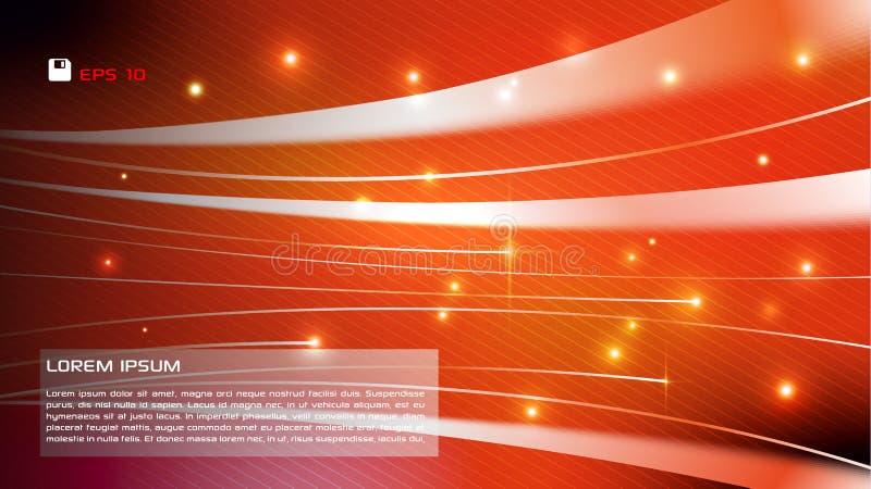 Vector abstracte kleurrijke achtergrond met lichte strook in sinaasappel vector illustratie