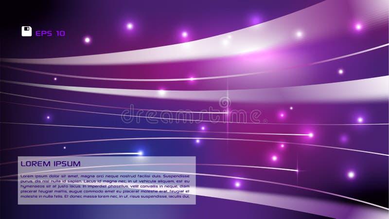 Vector abstracte kleurrijke achtergrond met lichte strook in viooltje royalty-vrije illustratie