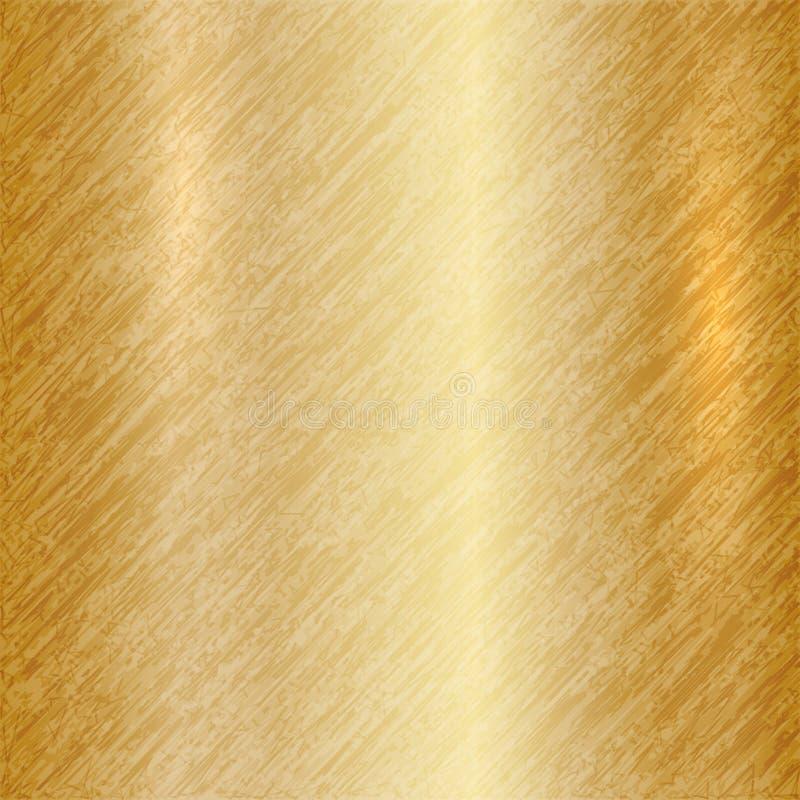 Vector abstracte metaal gouden achtergrond stock illustratie