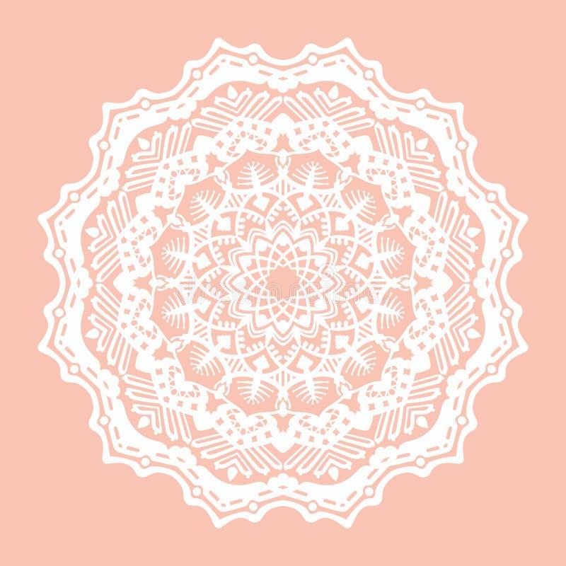 Vector abstracte mystieke cirkel op een perzikachtergrond stock illustratie