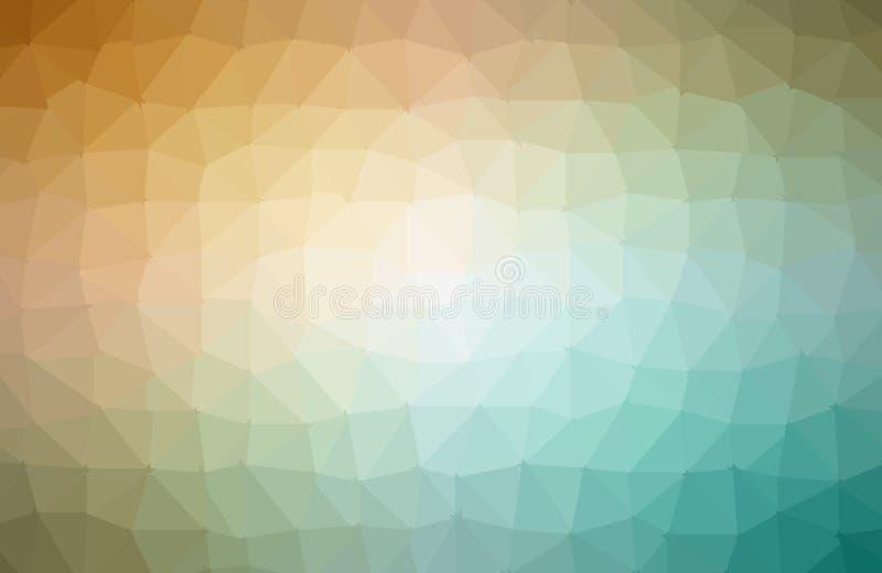 Vector abstracte onregelmatige veelhoekachtergrond met een driehoekig patroon in kleuren van het de lente de kleurrijke spectrum vector illustratie