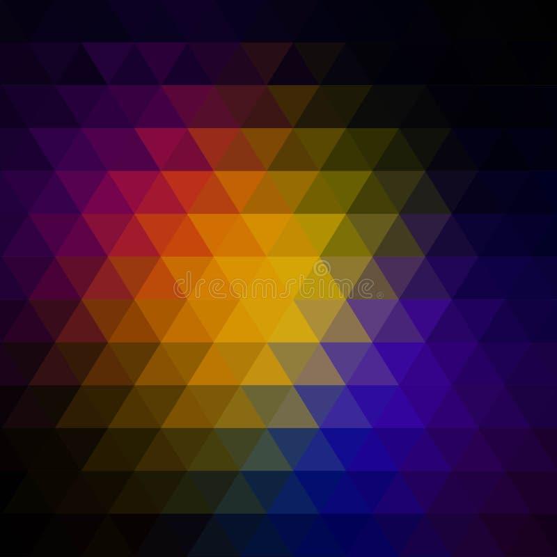 Vector abstracte onregelmatige veelhoekachtergrond met een driehoekspatroon Eps 10 stock illustratie