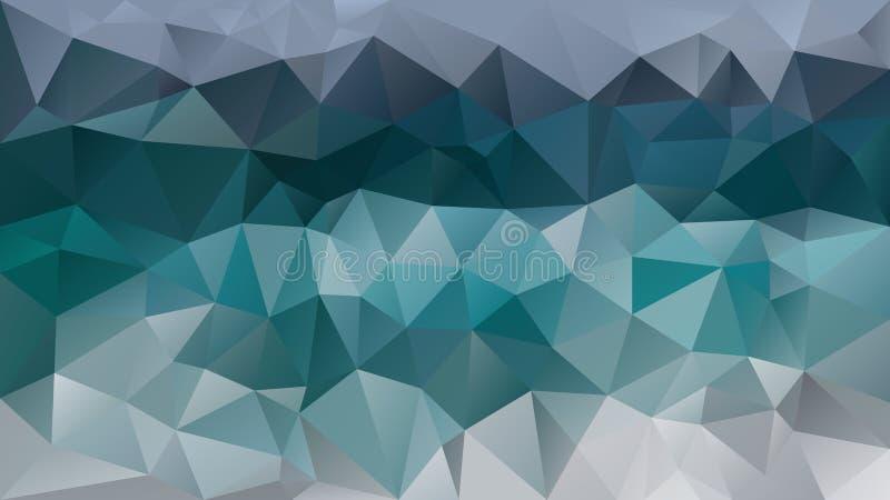 Vector abstracte onregelmatige veelhoekige blauwgroene achtergrond, wintertaling, aqua, turkoois, pijnboom, kobalt, munt vector illustratie