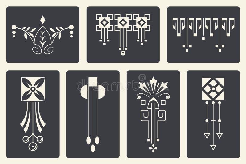 Vector abstracte ornamenten voor ontwerp van gedrukte en Webproducten vector illustratie