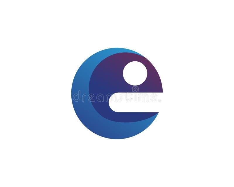Vector - Abstracte pictogrammen voor brievene embleem stock illustratie