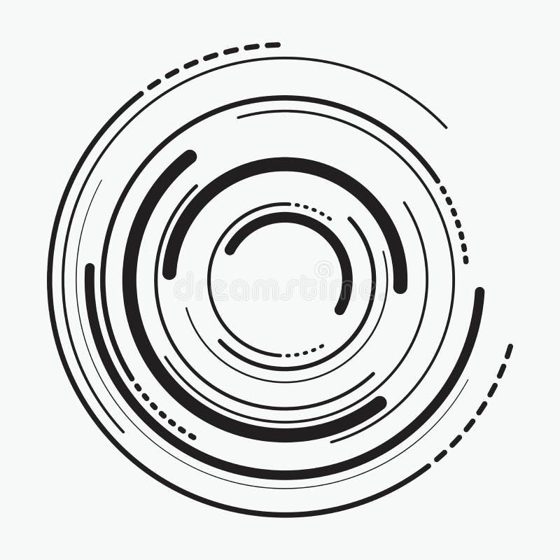 Vector abstracte radiale achtergrond van concentrische rimpelingscirkels vector illustratie