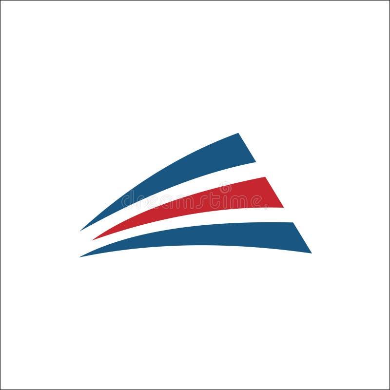 Vector abstracte rood van het vervoersembleem en blauw royalty-vrije illustratie