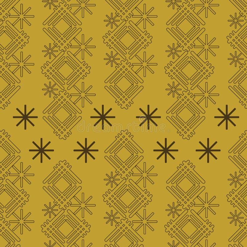 Vector abstracte verticale streep met naadloze ster vector illustratie