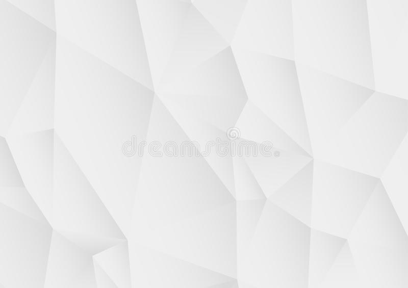 Vector abstracte witte veelhoekige achtergrond vector illustratie