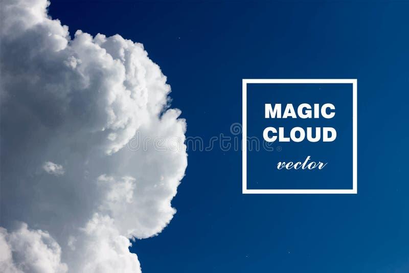 Vector abstracte wolk Inkt die in water, wolk wervelen van inkt in water op wit Abstracte bannerverven Holi Roze wolk I stock illustratie
