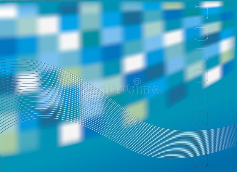 Vector abstractie. De decoratieve achtergrond stock illustratie