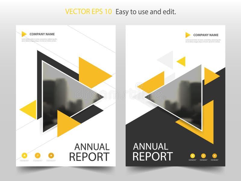Vector Abstracto Amarillo De La Plantilla Del Diseño Del Folleto ...