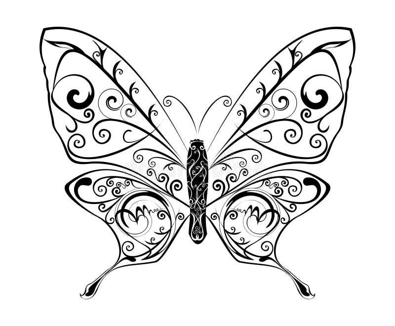 Vector abstracto de la mariposa ilustración del vector