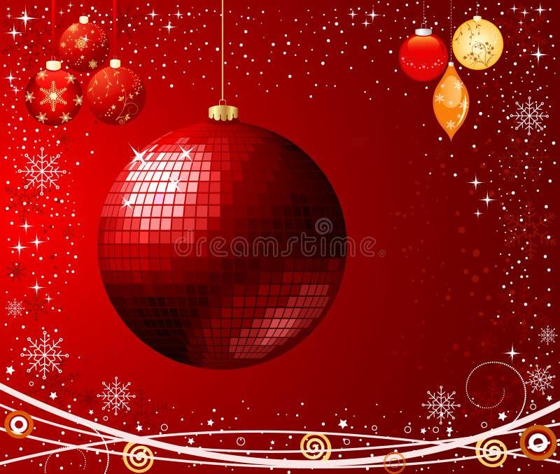 Vector abstracto de la Navidad stock de ilustración