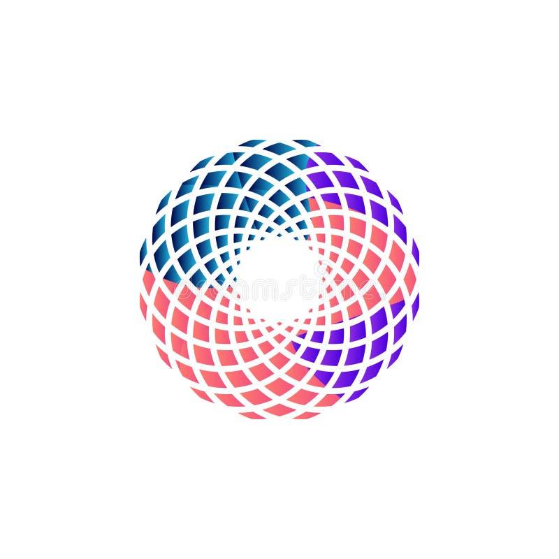 Vector abstracto de la plantilla del diseño gráfico del icono de la mandala libre illustration