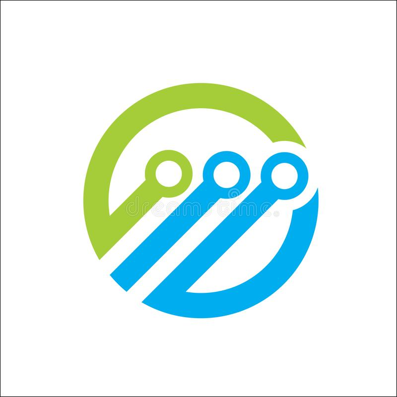 Vector abstracto del círculo del logotipo de la tecnología ilustración del vector