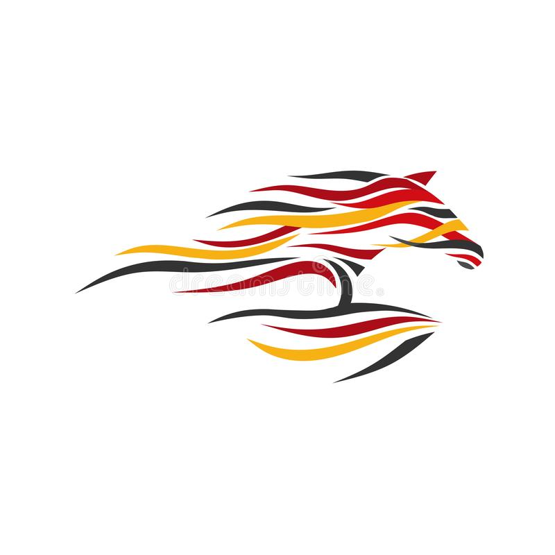 Vector abstracto del color del caballo stock de ilustración