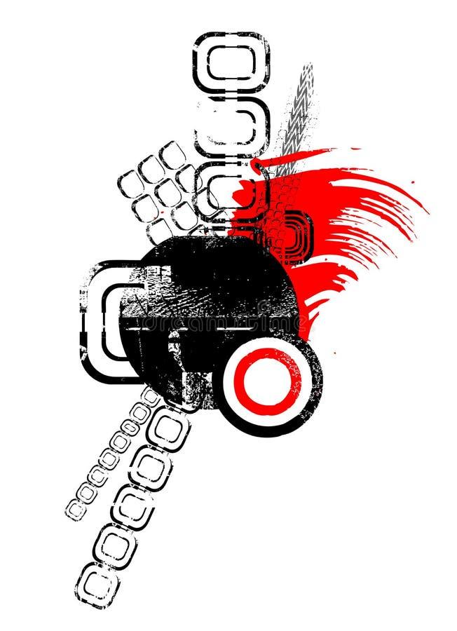 Vector abstracto del diseño de los montajes stock de ilustración