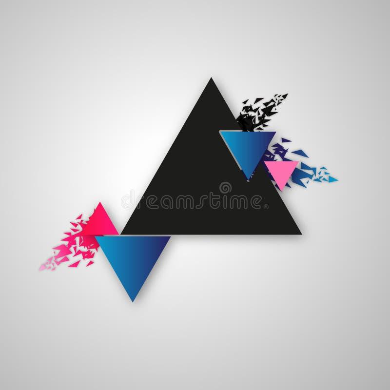 Vector abstracto del diseño del cuadro de texto de los triángulos libre illustration