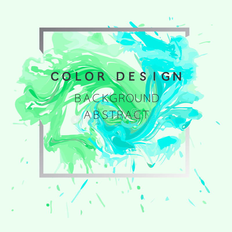 Vector abstracto del ejemplo del cartel del diseño de la textura de la pintura de la acuarela del fondo del arte sobre marco cuad foto de archivo libre de regalías