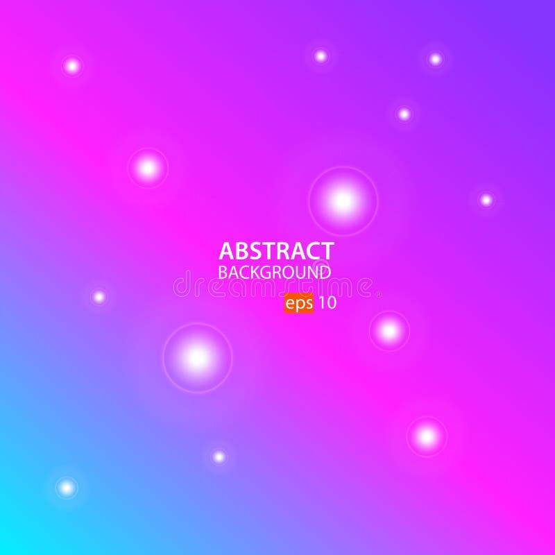 Vector abstracto del fondo con ciánico, rosa y azul stock de ilustración