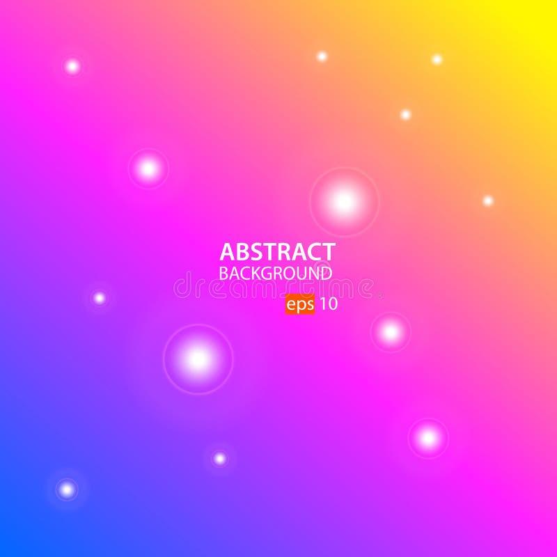 Vector abstracto del fondo con el vector del fondo del verde, del rosa y de Orangeabstract con azul, rosado y anaranjado libre illustration