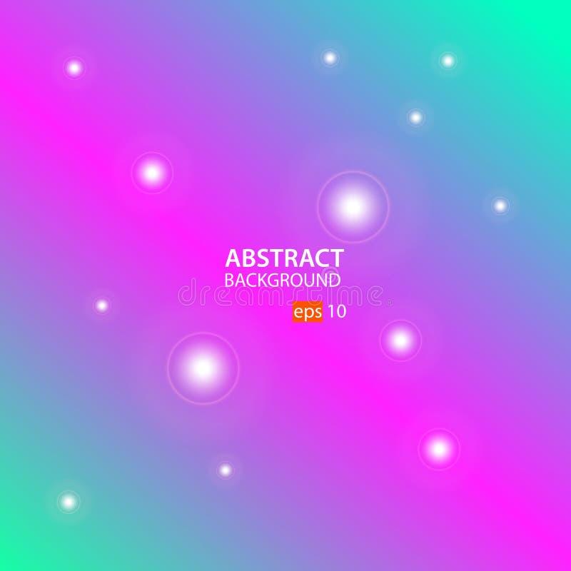 Vector abstracto del fondo con verde, rosado y verde stock de ilustración