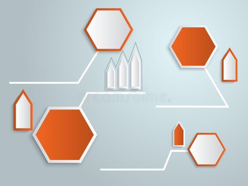Vector abstracto del infographics de la etiqueta 3d ilustración del vector