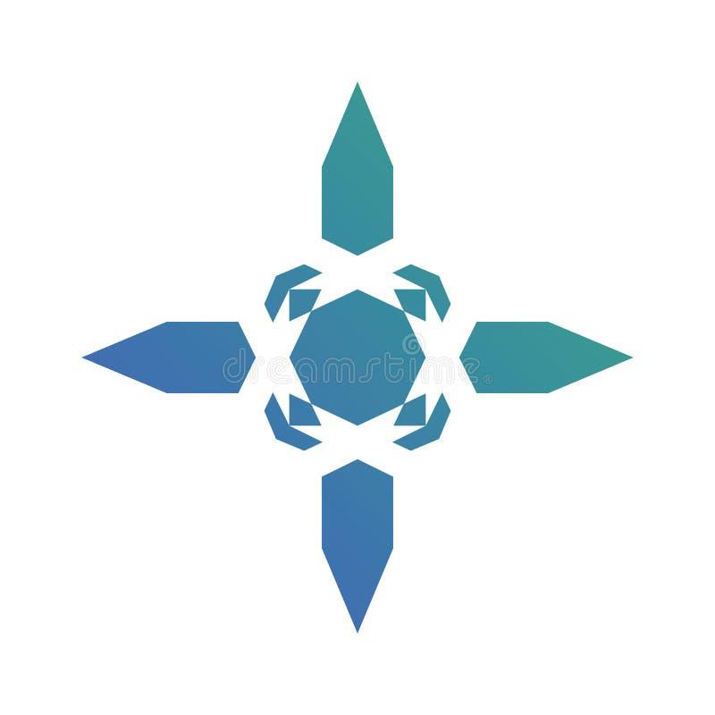 Vector abstracto del logotipo de la flecha de la naturaleza stock de ilustración