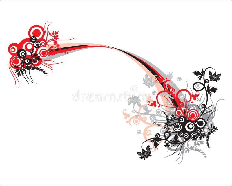 Vector abstracto del ornamento floral para el otro diseño ilustración del vector