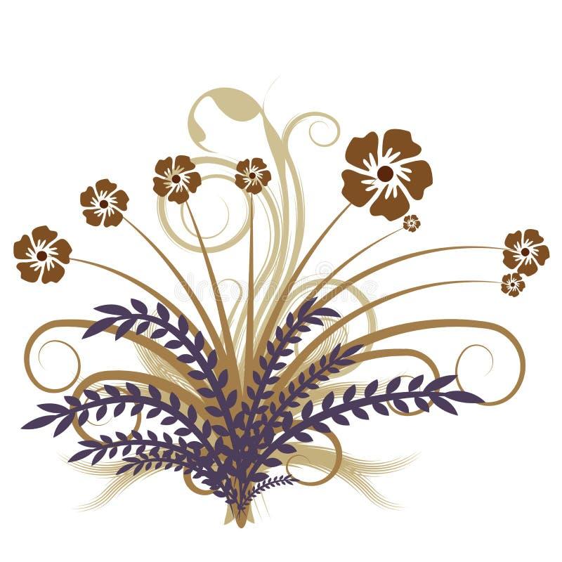 Vector abstracto del otoño floral ilustración del vector