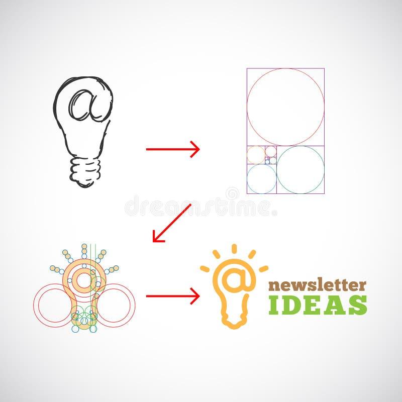 Vector abstracto Logo Template de las ideas del hoja informativa stock de ilustración