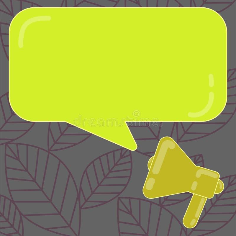 Vector abstracto moderno del megáfono del fondo del espacio vacío de la copia del concepto del negocio del diseño y discurso rect libre illustration