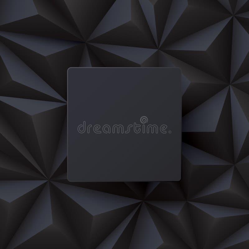 Vector abstracto negro del fondo libre illustration
