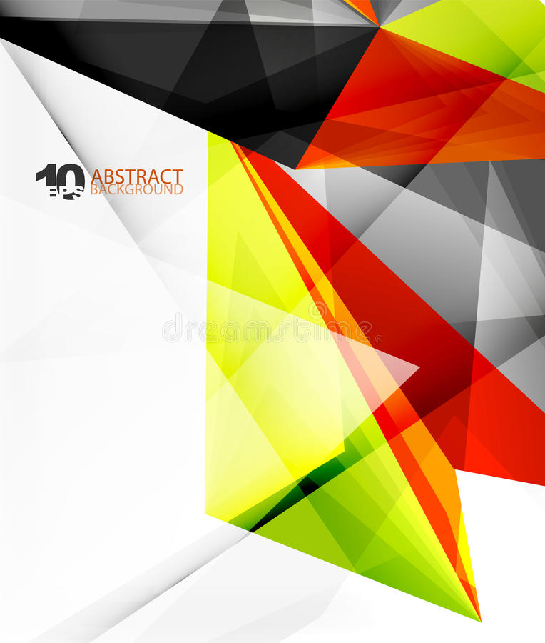 vector abstracto poligonal del triángulo 3d stock de ilustración
