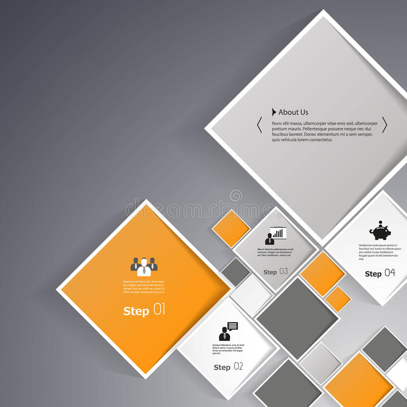 Vector abstrakte Quadrathintergrundillustration/infographic Schablone mit Platz für Ihren Inhalt vektor abbildung