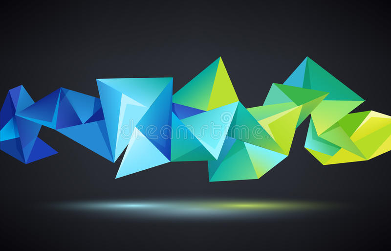 Vector abstrakten Origami-Regenbogenhintergrund des Kristalles 3d facettierten geometrischen stock abbildung