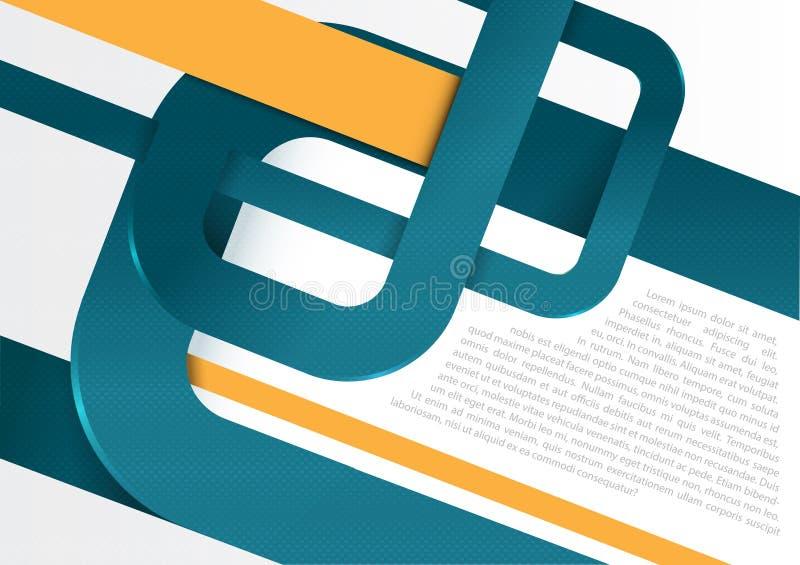 Vector abstrakten Retro- Hintergrund mit blauen Streifen für Plakat vektor abbildung
