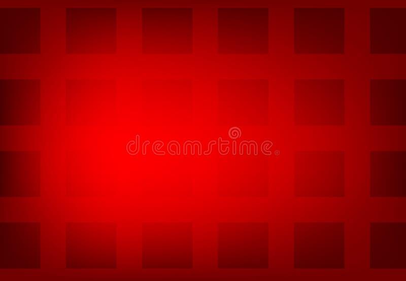 Vector abstrakten rote Farbgeometrischen gewellten Hintergrund, Tapete f?r jedes m?gliches Design vektor abbildung