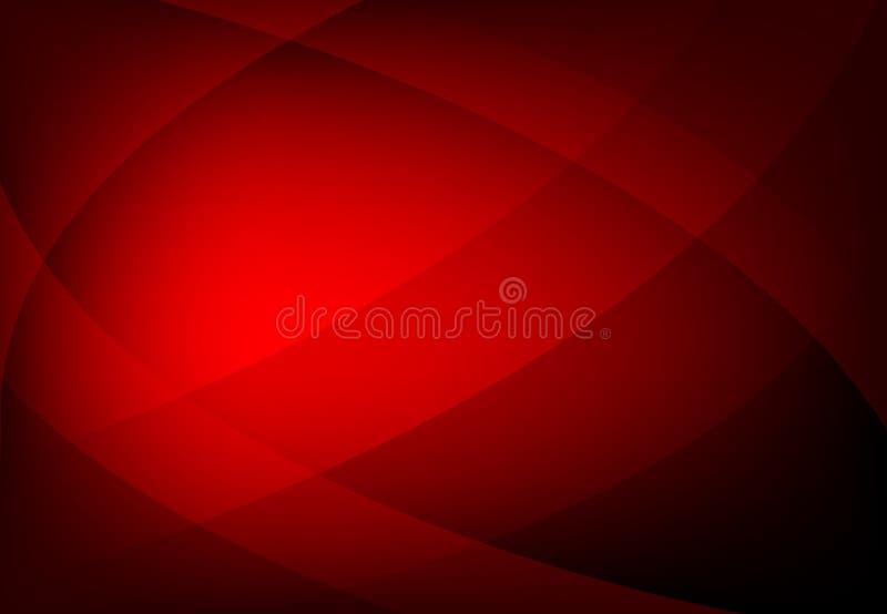 Vector abstrakten rote Farbgeometrischen gewellten Hintergrund, Tapete f?r jedes m?gliches Design stock abbildung