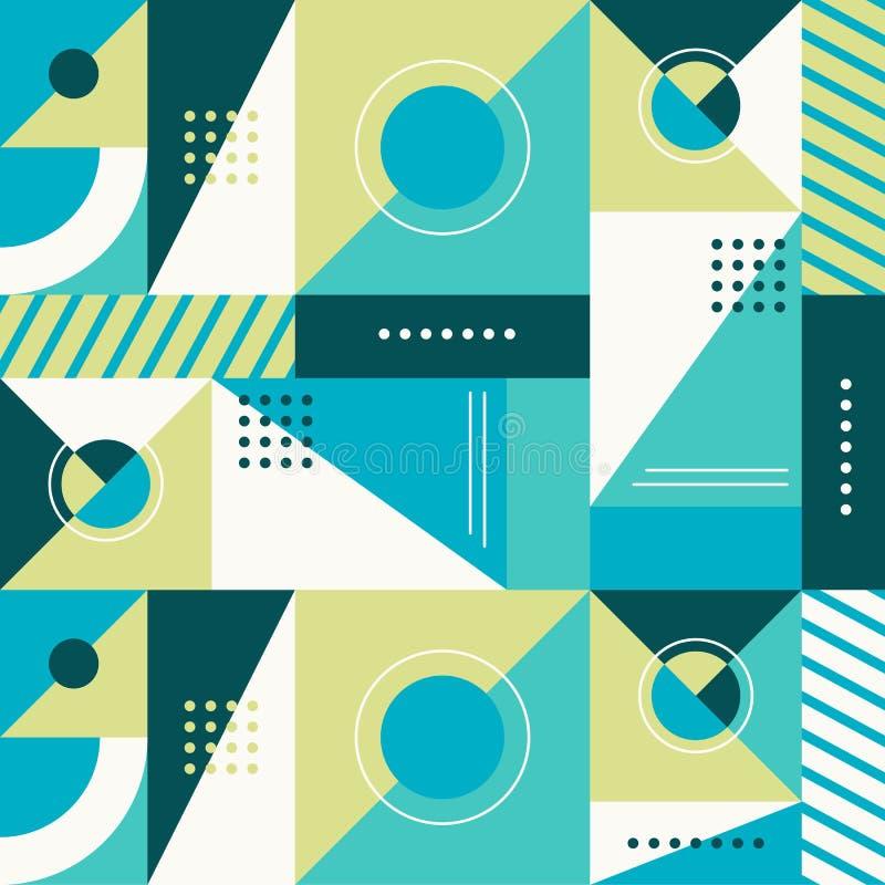 Vector abstraktes nahtloses Muster in der modischen modernen minimalen Art vektor abbildung