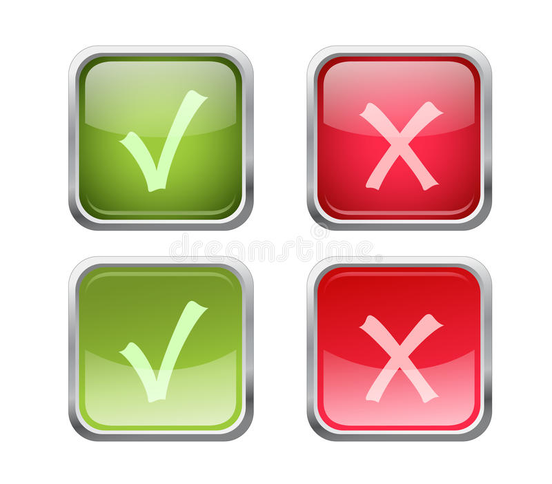 Vector Accept And Decline Buttons Stock Photo