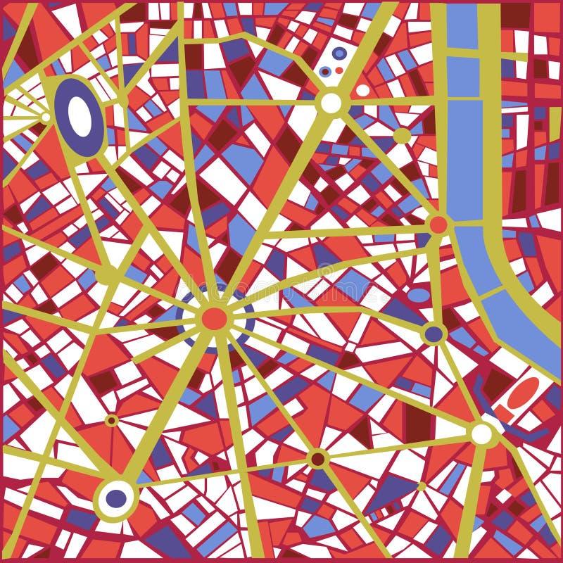 Vector Achtergrond Abstracte stadskaart  royalty-vrije illustratie