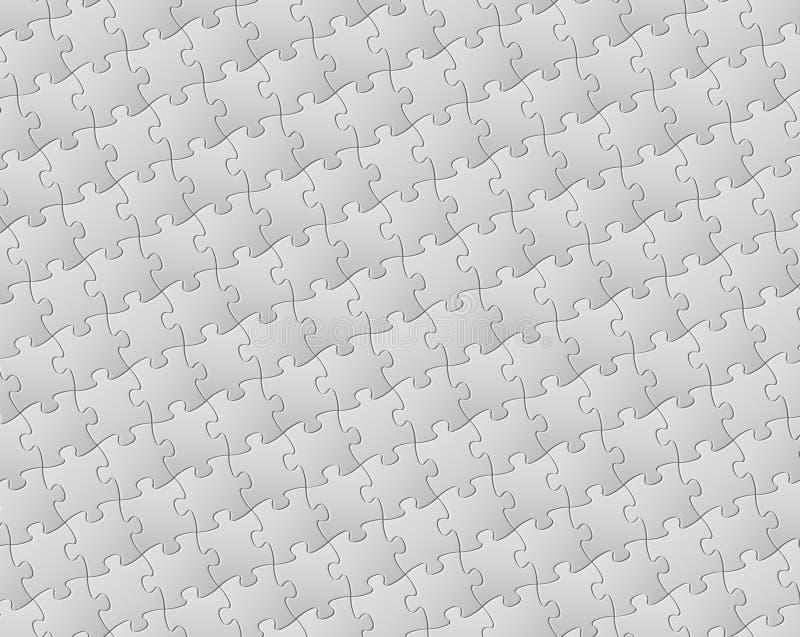 Vector achtergrond die van witte raadselstukken wordt gemaakt royalty-vrije illustratie