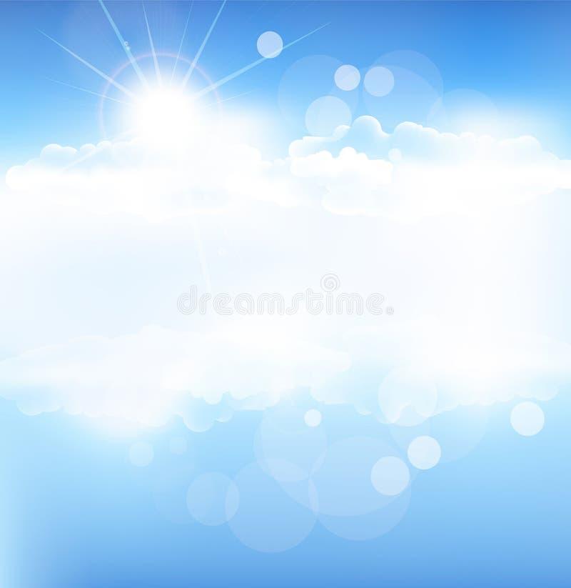 Vector achtergrond met blauwe hemel stock illustratie