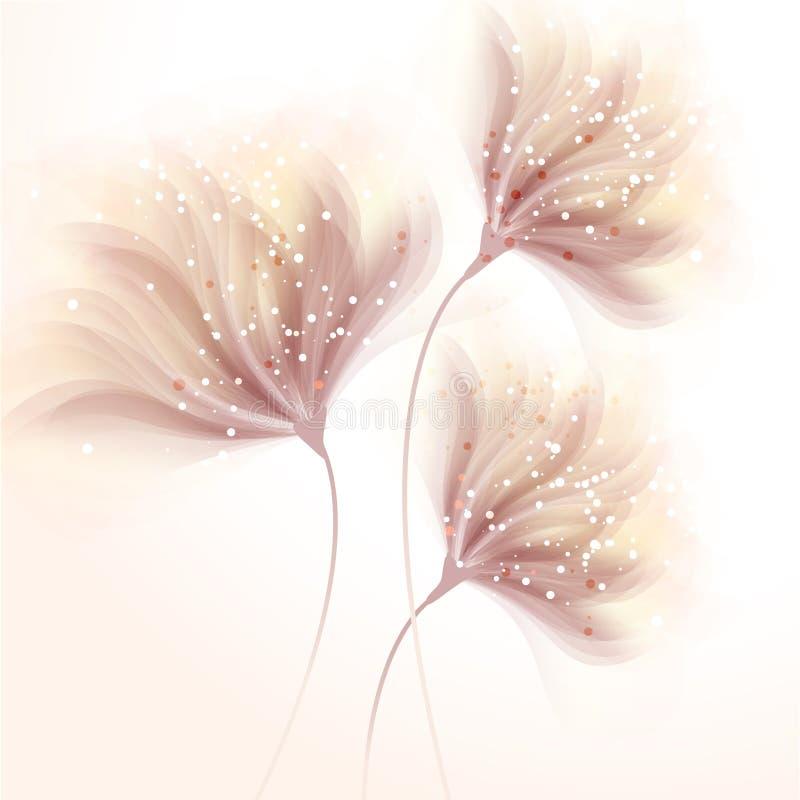 Vector achtergrond met bloemen stock illustratie