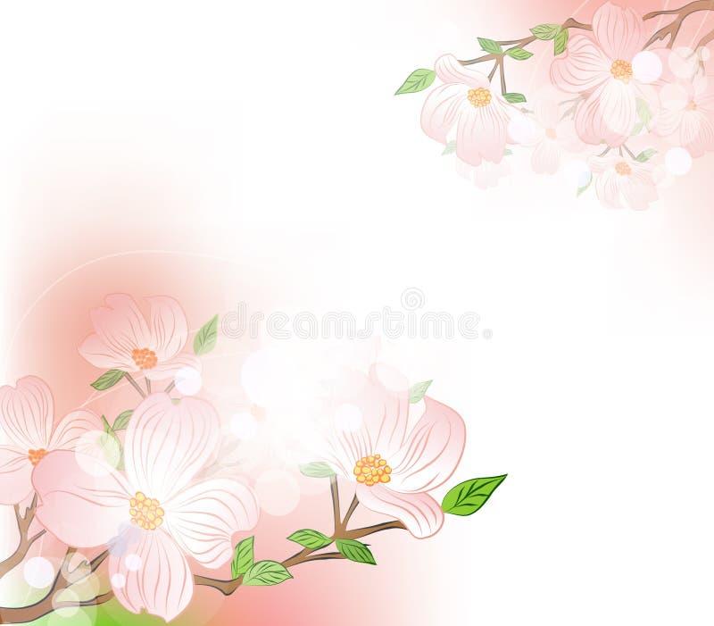 Vector achtergrond met de lentebloemen royalty-vrije illustratie