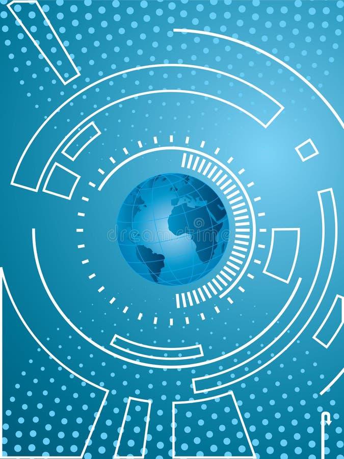 Vector achtergrond met technologie stock illustratie