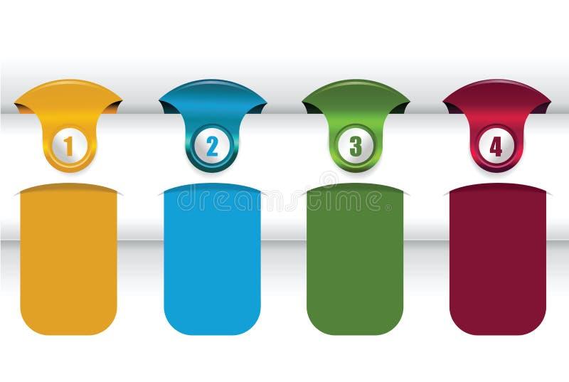 Download Vector Achtergrond Met Vier Kleurenetiketten Vector Illustratie - Illustratie bestaande uit groen, teken: 29507998